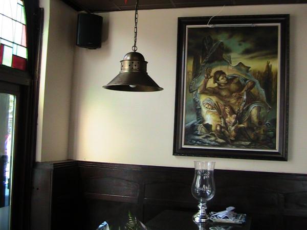 cafe met schilderij
