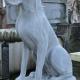 Deense dog hond in zithouding B-05340 blauwsteen