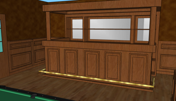 lambrisering en bar luifel 2