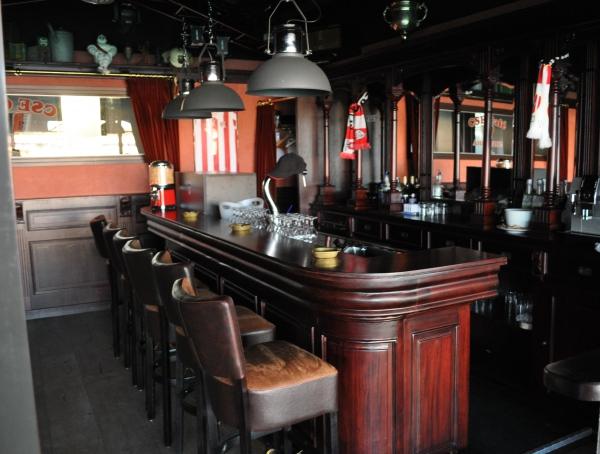 Engelse bar 360 mahoniehout