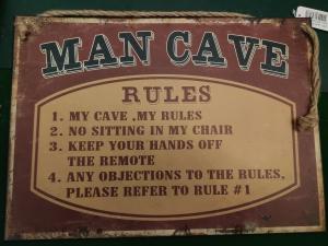 grappige regels voor de mancave