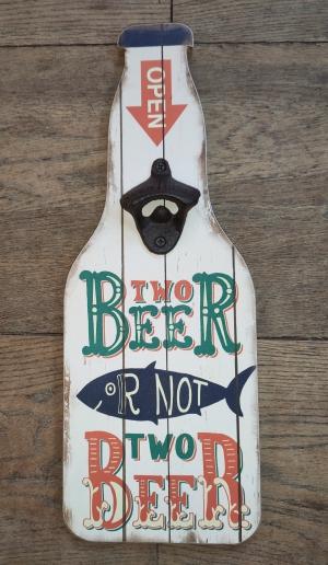 houten bord met flessenopener