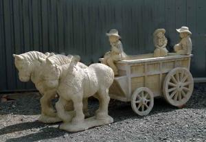 boerenkar met paarden