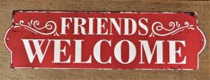 Groot bierbord friends welcome