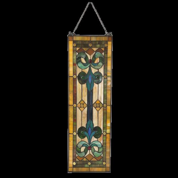 glaspaneel met franse lelies