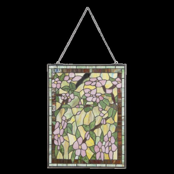 glaspaneel voorzetraam tiffany bloemen 5832