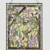 glaspaneel voorzetraam raamscherm tiffany rose bloemen 5832