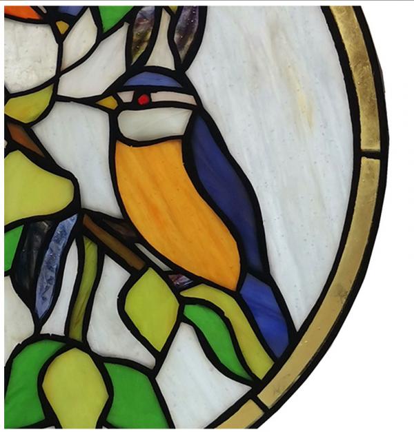 glaspaneel tiffany vogels blaadjes birds