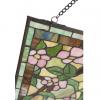glaspaneel tiffany met rose bloemen 5832