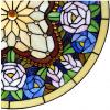 glaspaneel voorzetraam tiffany 6026
