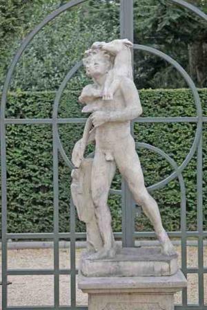 Tuinbeeld griekse jager