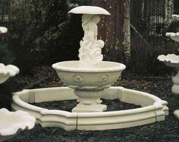 fontein met paraplu 1323