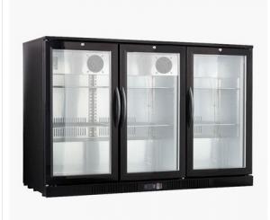 3 deurs koeling met glazen klapdeuren en slot