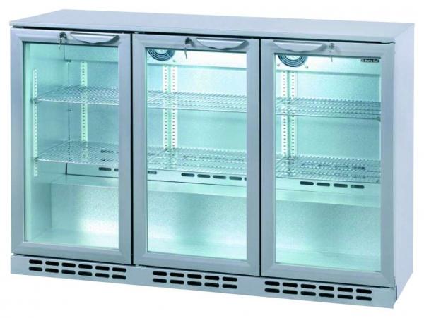 3-deurs koelkast, Koeling, professionele koeling voor bar, barkoelkast, 3-deurs. Koeling met glasdeur