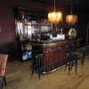 260cm Engelse bar in mahoniehout met eiken vloer