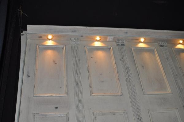 strijklicht op lambrisering