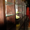 Achterkast met glasplanchets