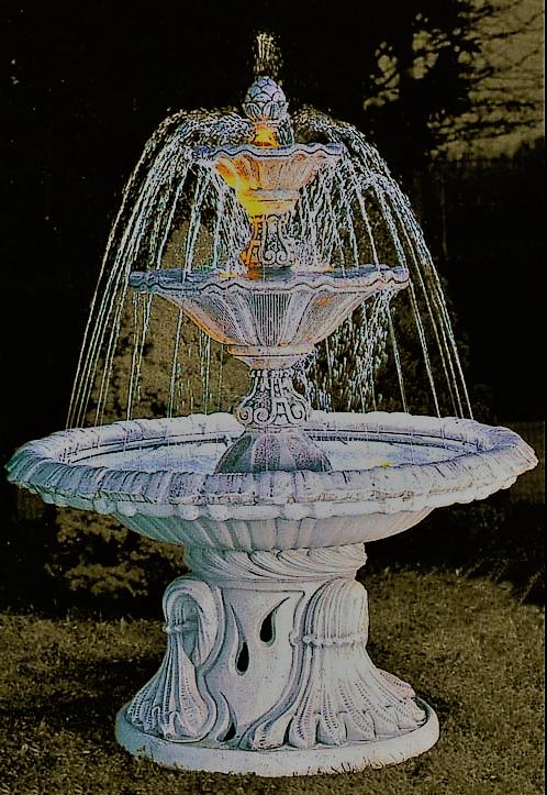 3-laags fontein met water