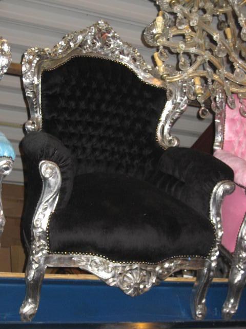 Barok Stoelen Zilver Zwart.Koningsstoel Zwart Zilver Elmo Dreams Deco