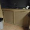 Keukengedeelte voorzien van schuifdeuren