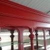 Rode achterkast bovenzijde
