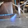 Terugvalende plint met LED-verlichting