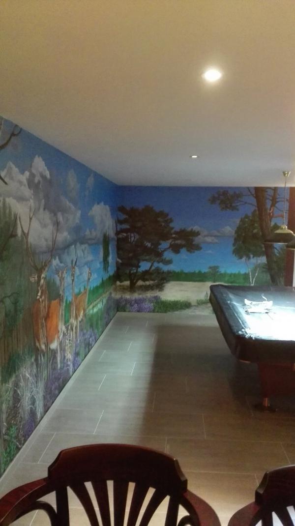 Wandschildering huiscafé