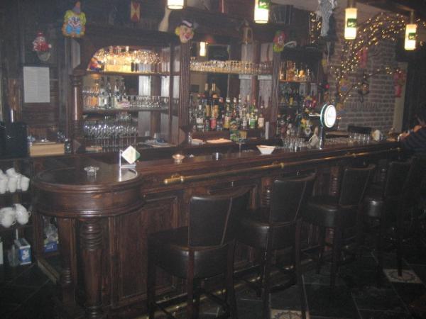 5 meter New York bar in noten kleur