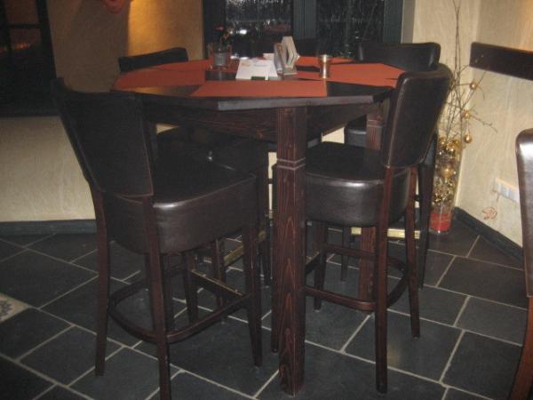 hoge 6-kantige cafétafel