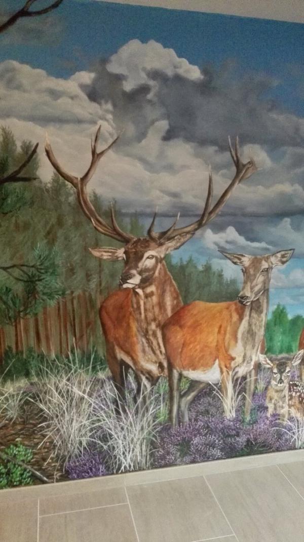 Detail wandschildering